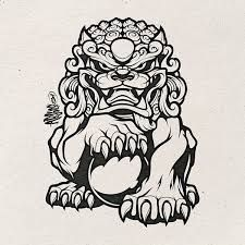 Image Result For Chinese Guardian Lion Drawing Foo Dog