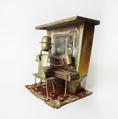 vintage music boxes | 50% OFF - Vintage Copper Music Box Piano Music Player