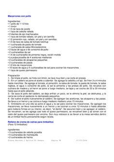 MACARRONES con pollo // armando-scannone-recopilacin-de-recetas-98-728.jpg (728×1030)