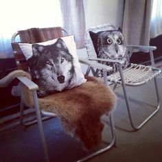 Wolf & Owl Pillows