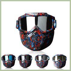 24c4551487e4 Men Women Windproof Snowboard Goggles Ski Glasses Motocross Glass  Detachable Face Mask Anti Smoke Skiiing Protection Gear
