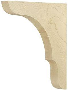 Shelf Brackets Design, Wooden Shelf Brackets, Wooden Corbels, Large Shelves, Rustic Shelves, Wooden Shelves, Cornice Moulding, Woodworking Shows, Raised Panel Doors