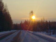 The sun in wintermorning