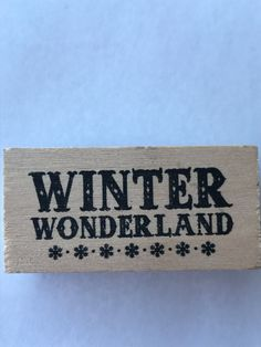 New- For Rubber Stamping and Handmade Cards Wood Mounted Rubber Stamp-- Winter Wonderland by YourScrapbookingShop on Etsy