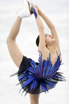 Feb 20, 2014; Sochi, RUSSIA; Mao Asada of Japan performs in the ladies free skate program during the Sochi 2014 Olympic Winter Games at Iceberg Skating Palace. (Jeff Swinger-USA TODAY Sports) (3456×5184)