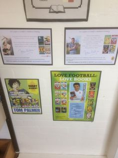 """""""Thanks to for the signed posters! Looking great on the wall in the Library. Tom Palmer, School Displays, Love Book, Thankful, Posters, Twitter, Wall, Books, Livros"""