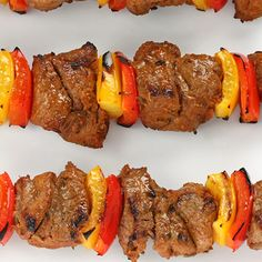 Tender and delicious beef skewers.. Italian Meat Skewers Recipe from Grandmothers Kitchen.