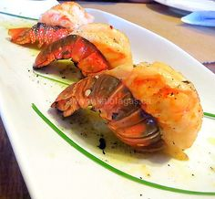 Broiled Lobster Tails With Oil Lemon Sauce - Kalofagas - Greek Food & Beyond