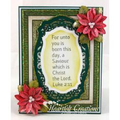 Heartfelt Creations - For Unto You Is Born Project