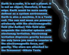 earth is a realm not a planet tesla - Google Search