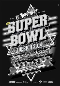 this is nr 2 in my superbowl series. poster for this years superbowl event in zurich. its about bowling. i did several colour versions for different poster sizes and web stuff. the black and the blue poster was the white one a… Bowling, Blue Poster, Self Promotion, Chevrolet Logo, Super Bowl, Creative, 2d, Posters, Graphics