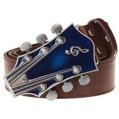 Fashion Men's belt metal buckle belts Retro guitar Street Dance access – The Glamorous Elf White Belt, Brown Belt, Black Belt, Metal Belt, Metal Buckles, Faux Leather Belts, Leather Men, Ukulele, Music Guitar