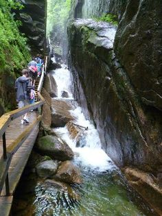 The Flume Gorge in Franconia Notch State Park is my favorite natural wonder in New England!