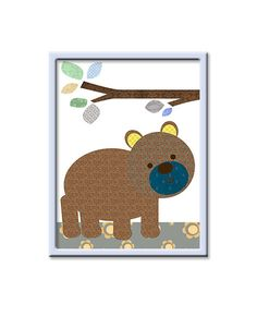 Bear Nursery Decor Baby Boy Nursery Art Instant by nataeradownload
