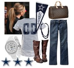 Ready for the game!!! C'mon September!! Um, and how me is this? Cowboys gear and a Louis? YUP!