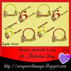 Digital Scrapbooking Freebies, Kit, St Nicholas Day, Saint Nicolas, Frames, Personalized Items, Frame