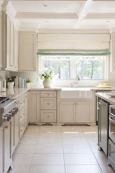 Apron feet, with glaze finishes to bring out the recessed cabinet details.  A subtle window treatment that leads you straight to the farmhouse sink.  Maybe that is how we get the dishes cleaned.