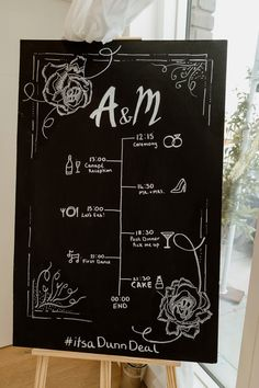 Chalkboard Order of The Day | By Sharron Gibson | Wedding Sign | Wedding Chalkboard | Order of The Day | DIY Wedding Sign | London Wedding | Rooftop Wedding | Wedding Decor