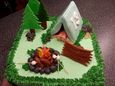 Boy Scouts Camping Cake by Sarah's Kitchen