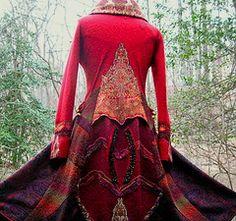 Amber studios Patchwork sweater coat
