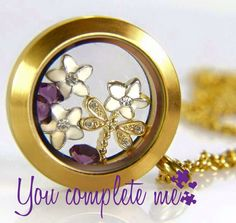 Gorgeous locket with beautiful charms. Contact me and creat your own.