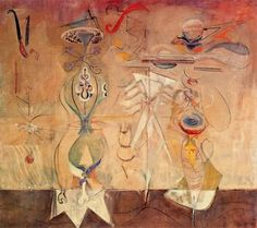 Slow Swirl at the Edge of the Sea by Mark Rothko (1944)...