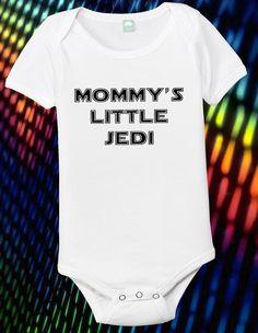 Star Wars Jedi Onesie Mommys Little Jedi All Sizes 0-24 Months. $13.99, via Etsy.