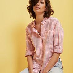 Cotton gingham shirt!