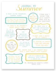5 Best Images of Printable Summer Journal Prompts - Summer Journal Prompts for Kids, Summer Writing Prompt Printable and Free Summer Writing Prompts Summer School, Summer Kids, Free Summer, Journal Prompts For Kids, Journal Ideas, Journal Topics, Journal Inspiration, Journal List, Creative Journal