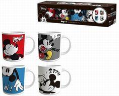 BRUMLA.CZ – Značkový dětský a dospělý second hand a outlet, použité oděvy pro děti a dospělé - Nové - 4x keramický hrnek s Mickeym zn. Disney