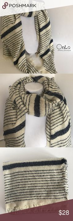 "Large Multi Stripe Scarf Large warm and super soft scarf. You just want to rub your face on it 😌 soft. Measures 75""x35"". 100% acrylic. If you have questions let me know. No Offers or trades. Bundle and save! Accessories Scarves & Wraps"