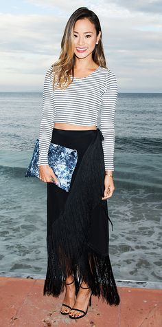 Look of the Day - July 22, 2014 - Jamie Chung in Lovers + Friends and Reformation from #InStyle
