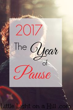 With every new year comes a new word. This year my word is Pause. Pause in moments so I can be intentional with my words, actions and how I treat others.