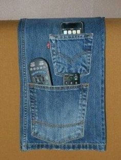 Blue jean utility holder for chair