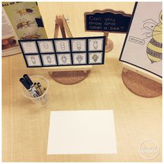 {A Pinch of Kinder} Bee Inquiry: FREE Directed Drawing Cards! Can you draw and label a bee?