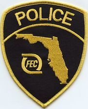 FLORIDA FL EAST COAST RAILWAY Railroad Train POLICE PATCH