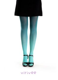 Virirvee spruce ombre tights                 #ombre #virivee #ombre_tights #tights #colors #leg #fashion #spruce #green #stockings #leggings #woman #gradient