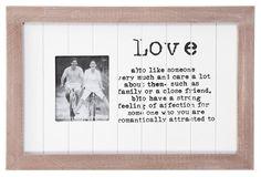 Fotolijst Judy: fotolijstje in grijs/whitewash met leuke <3 tekst #HomeLabel