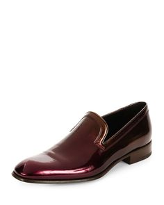 Salvatore Ferragamo Garth Patent Leather Venetian Loafer, Wine