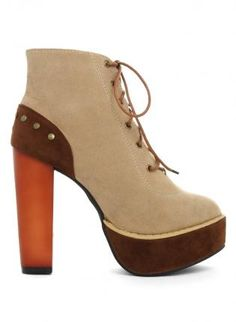 brown platform booties #suds #shoes #boots