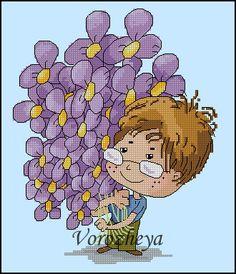 Gallery.ru / Цветы к 8 марта - Схемы за небольшую плату - Vorozheya