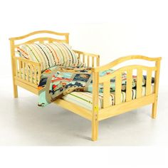 Dream On Me Elora Toddler Bed in Natural - - Toddler Beds - Nursery Furniture - Baby & Kids' Furniture - Furniture
