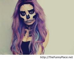Skull Halloween makeup - ça devient de plus en plus évident de savoir comment je serais maquillée demain...