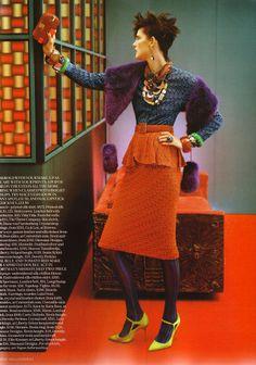 """Cultured Clash"" : Stella Tennant : UK Vogue September 2011 : Javier Vallhonrat"