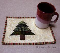 Freemotion by the River: Christmas Tree Mug Rug Tutorial