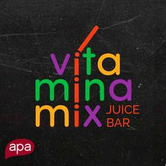 Brand design for a friendly and colorful juice bar. A brand that says fun, flavorful and fresh. What does your brand say?   www.apacreative.com