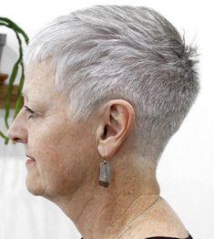 50 Gray Hair Styles Trending in 2020 - Hair Adviser Short Taper Haircut, Tapered Haircut For Women, Short Grey Haircuts, Short Hairstyles For Women, Short Hair Cuts, Short Hair Styles, Gray Hairstyles, Short Gray Hair, Bandana Hairstyles
