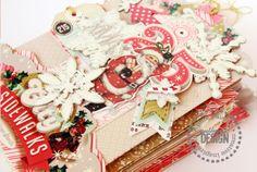 Mini Album - recycled Christmas packagings