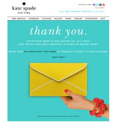 """make """"thank you"""" email look like an actual """"thank you"""" note"""