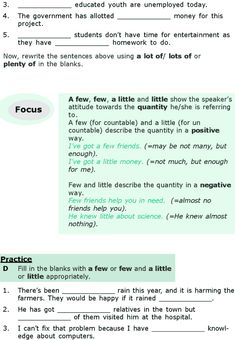 Grade 6 Grammar Lesson 16 Quantifiers (2)